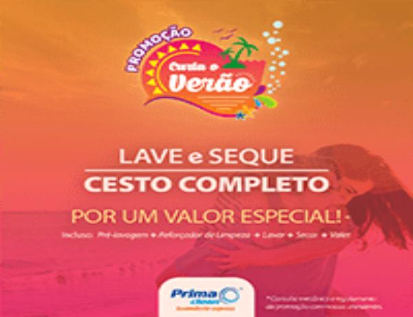 Curta o Verão! Aproveite a chegada da estação com a nova promoção da Prima Clean Lavanderia Express